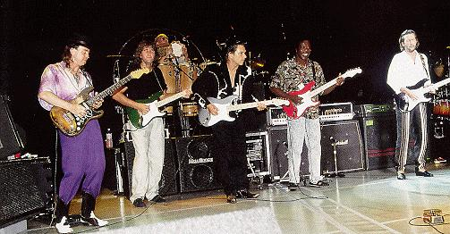 SRV with Phil Palmer, Jimmie Vaughan, Buddy Guy, & Eric Clapton